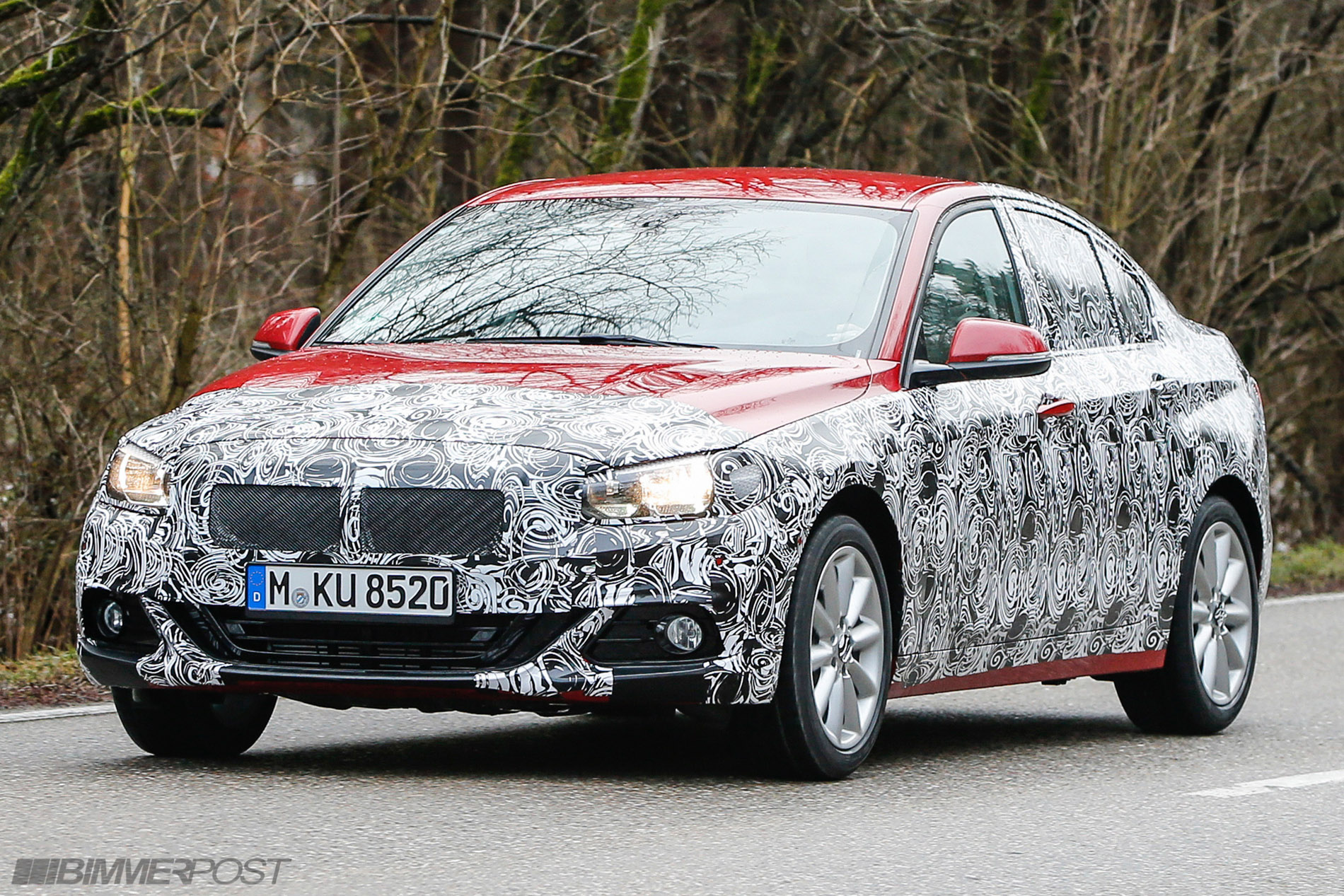 1 series sedan f52 spied again with first peek at interior