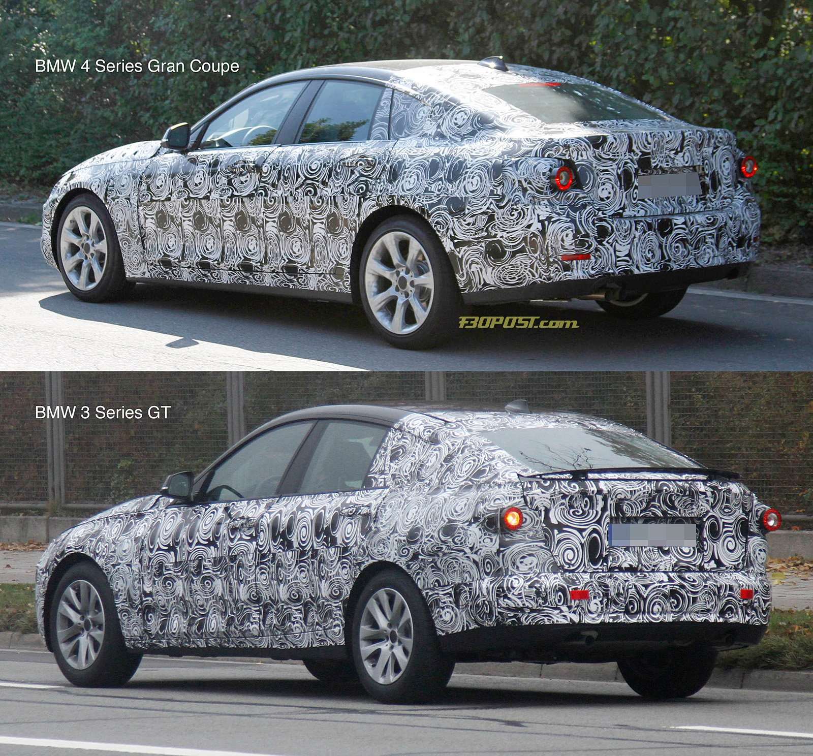new spy pics convince us mystery mule is bmw 4 series gran coupe. Black Bedroom Furniture Sets. Home Design Ideas