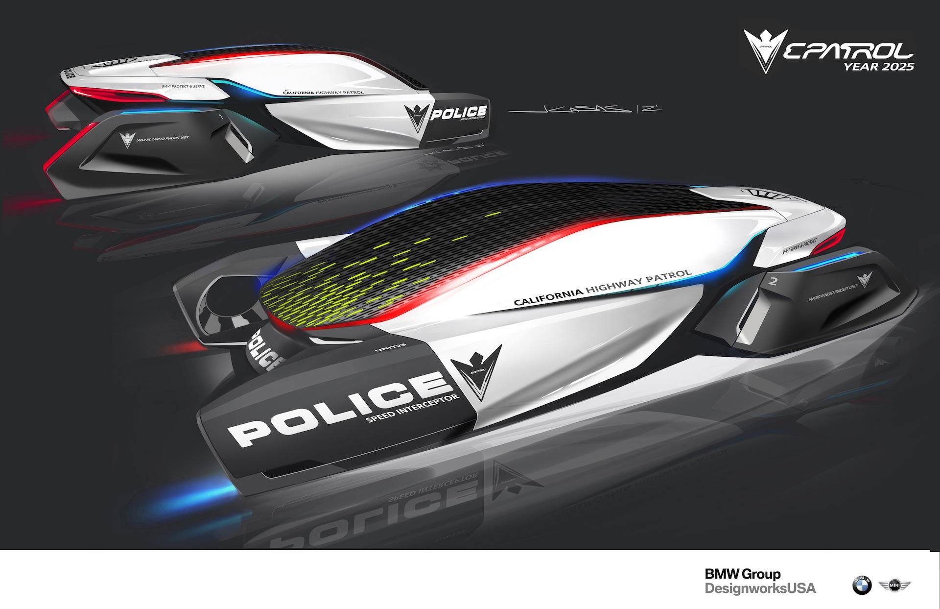 epatrol bmw designworksusa shows vision of future police