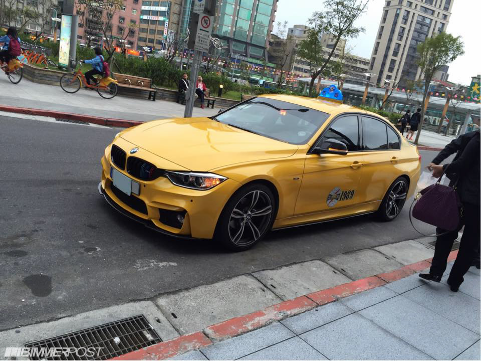 taiwanese f30 taxi is back with m3 front/rear