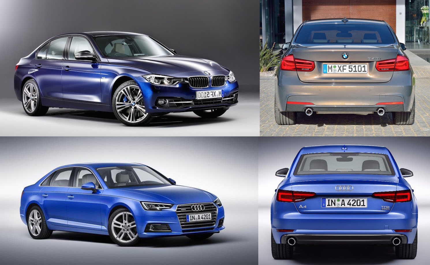 All New 2016 Audi A4 B9 Vs Bmw 3 Series F30 Lci