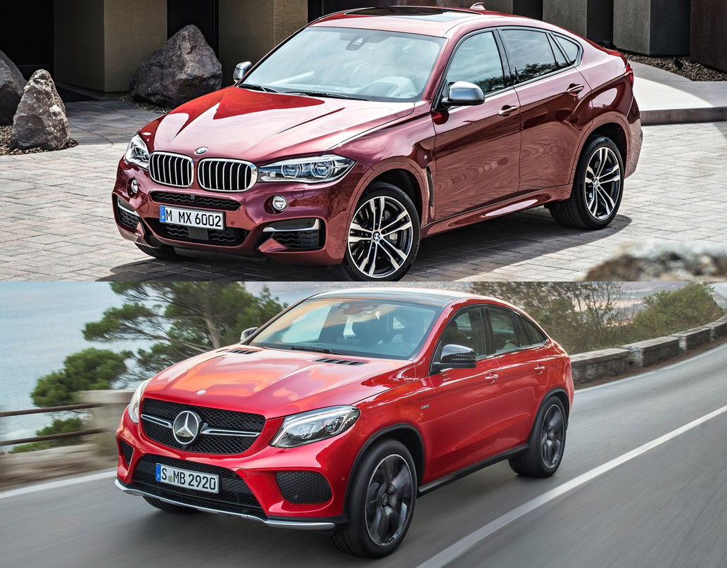 2015 BMW X6 M50d Vs 2015 Mercedes Benz GLE Coupe 450 AMG Sport