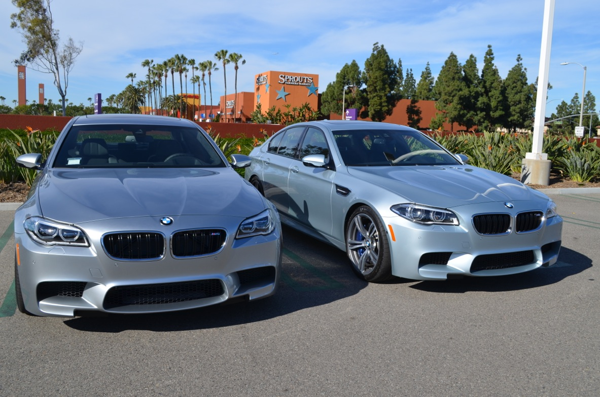 Pure Metal Silver M5 Photographed Next To Silverstone M5 In Ca