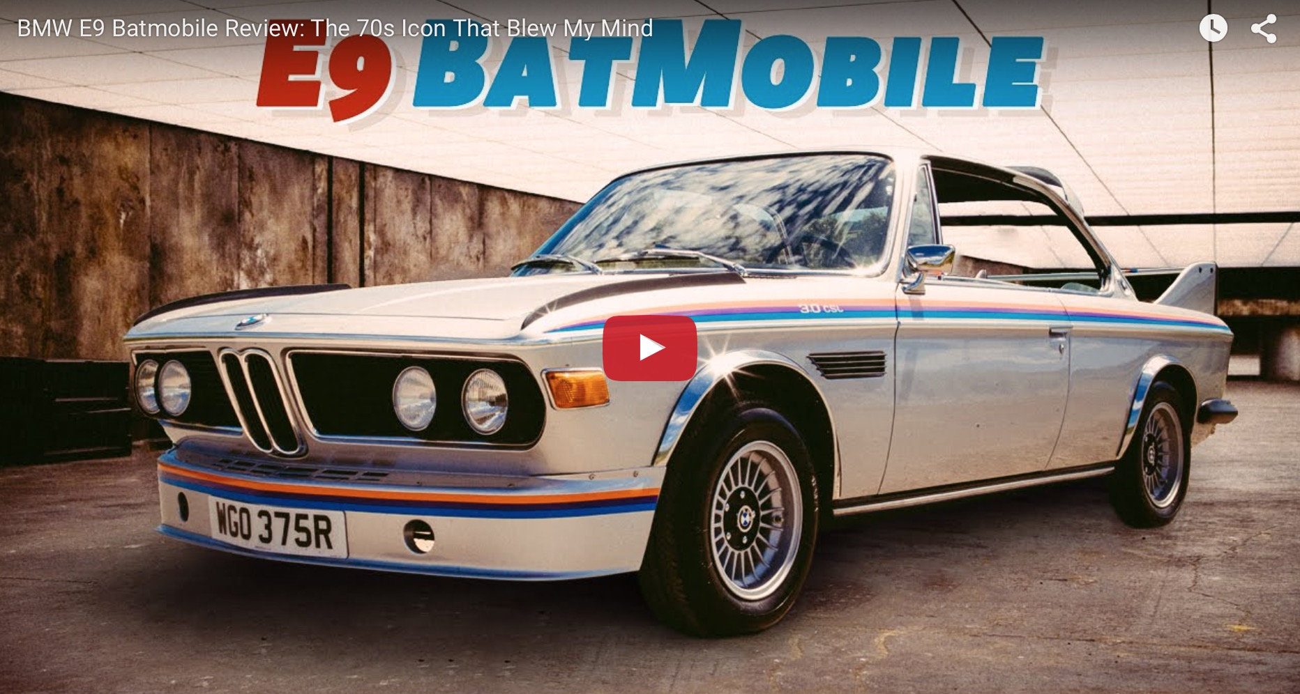 Bmw E9 3 0 Csl Batmobile Review The 70s Icon That Blew My
