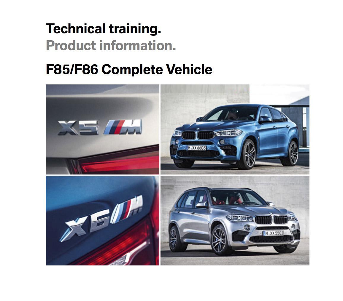 F85/F86 BMW Product Training Document