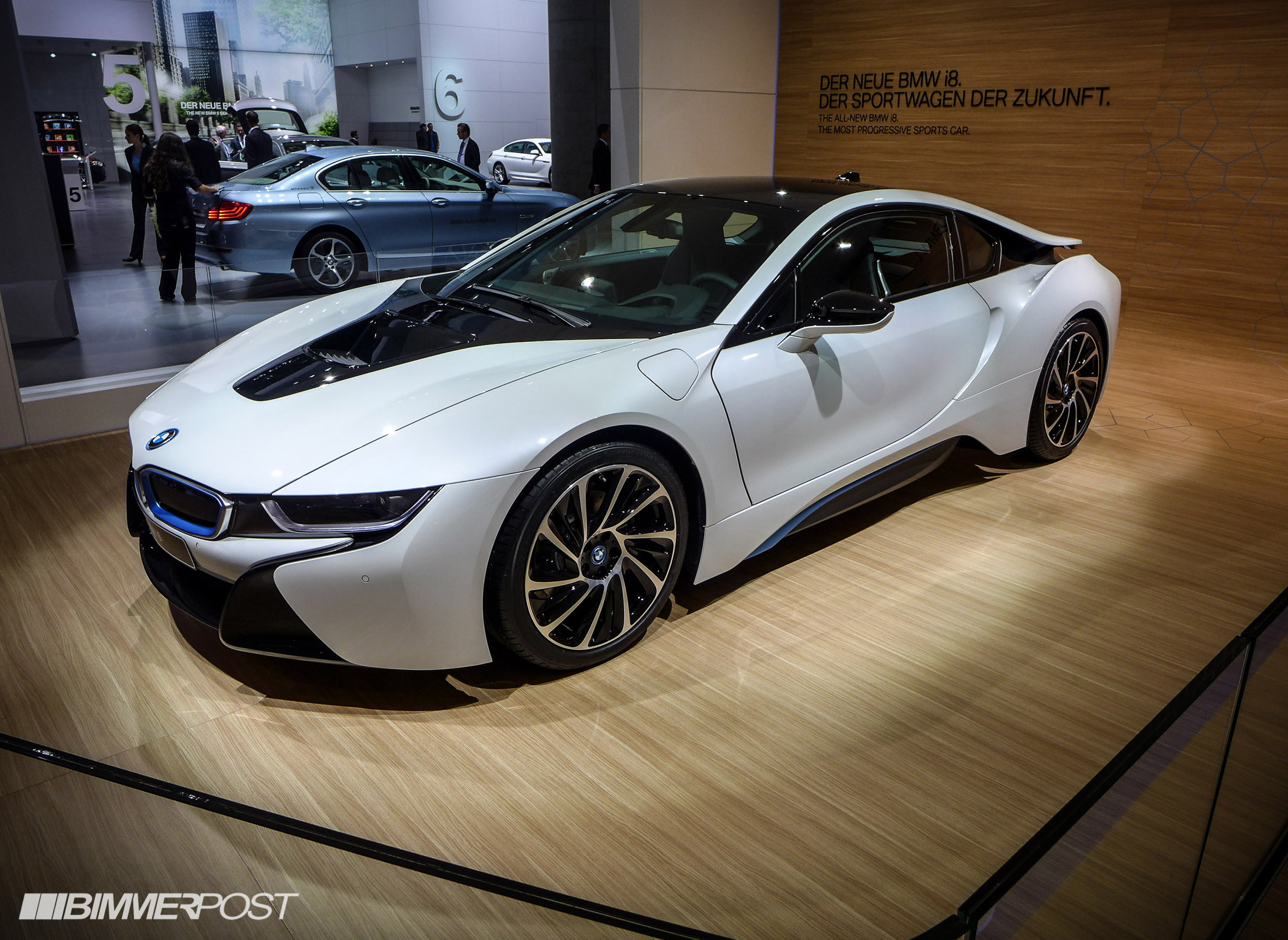 Frankfurt iaa 2013 bmw i8 in crystal white sophisto grey ionic silver page 2
