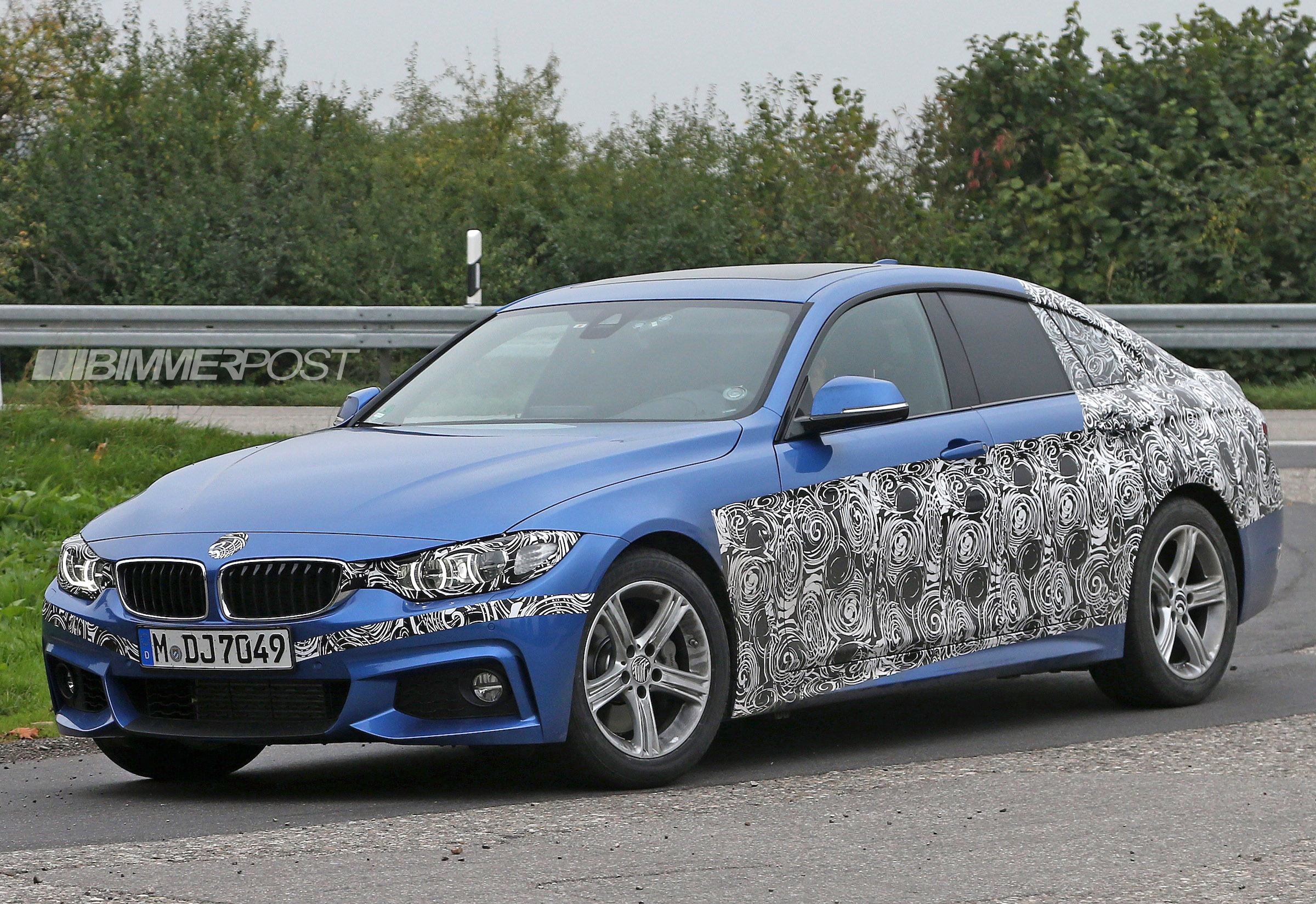 Spied Bmw 4 Series Gran Coupe M Sport In Estoril Blue Ii