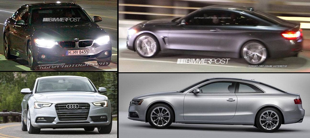 Natural Born Rivals  2014 BMW 4 Series Coupe vs Audi A5 Coupe