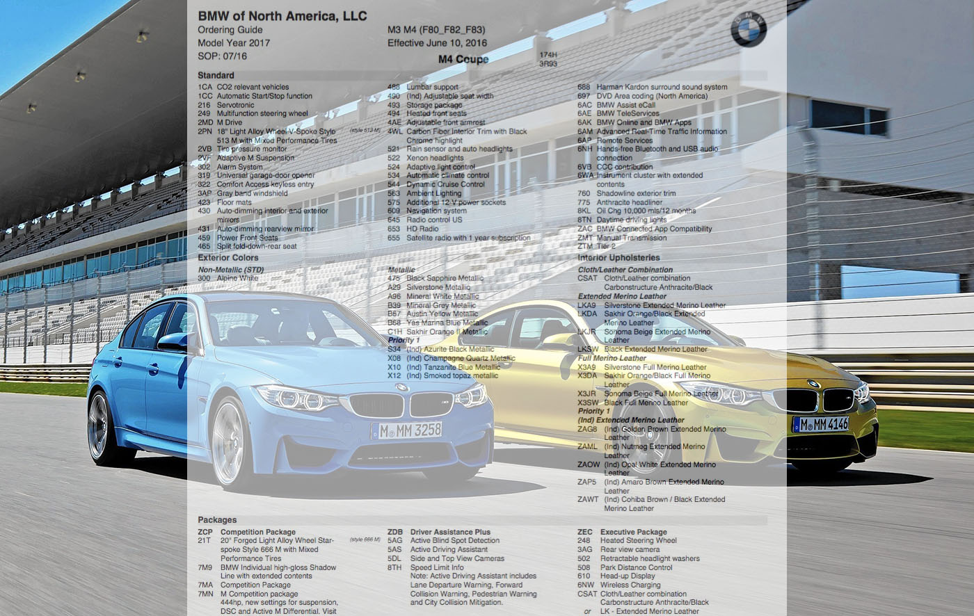 2018 bmw ordering guide. delighful 2018 in 2018 bmw ordering guide