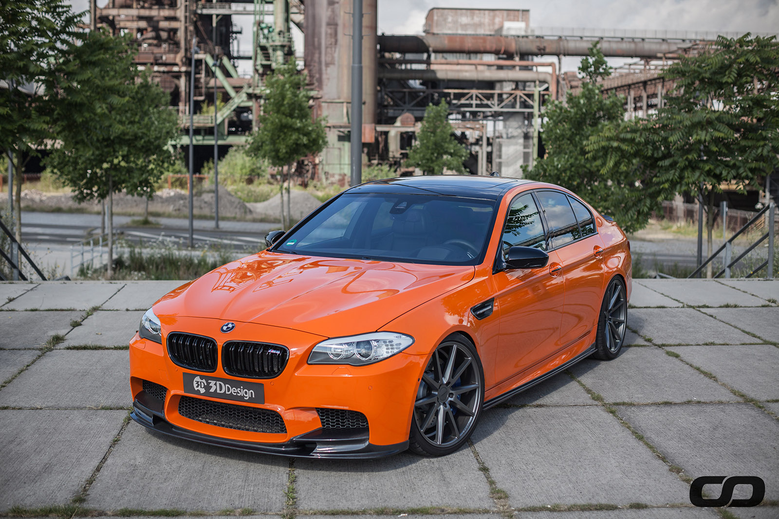 Fire Orange M5 Meets 3d Design