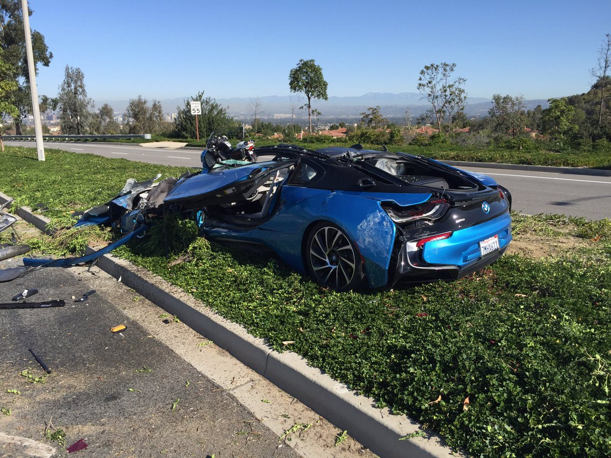 Bmw I8 Crushed By Cement Truck In Orange County