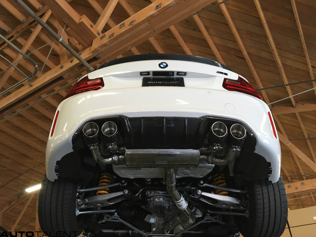bmw m2 with fi exhaust er catless downpipe pics videos. Black Bedroom Furniture Sets. Home Design Ideas