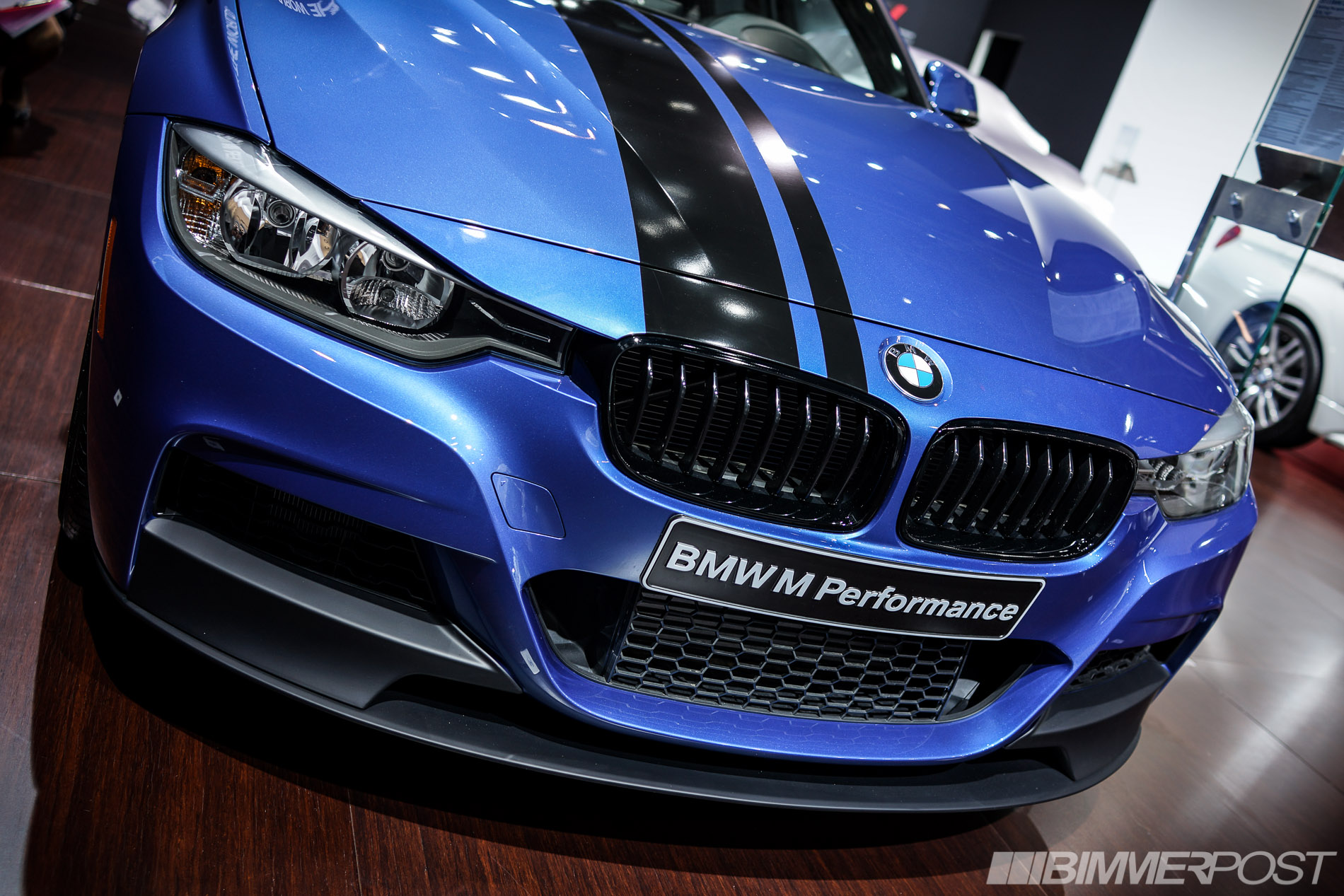 nyias 2013 bmw m performance parts estoril blue 328i