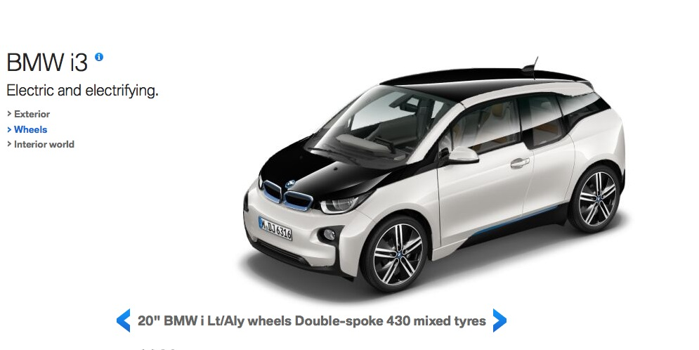 BMW i3 Online Visualizer