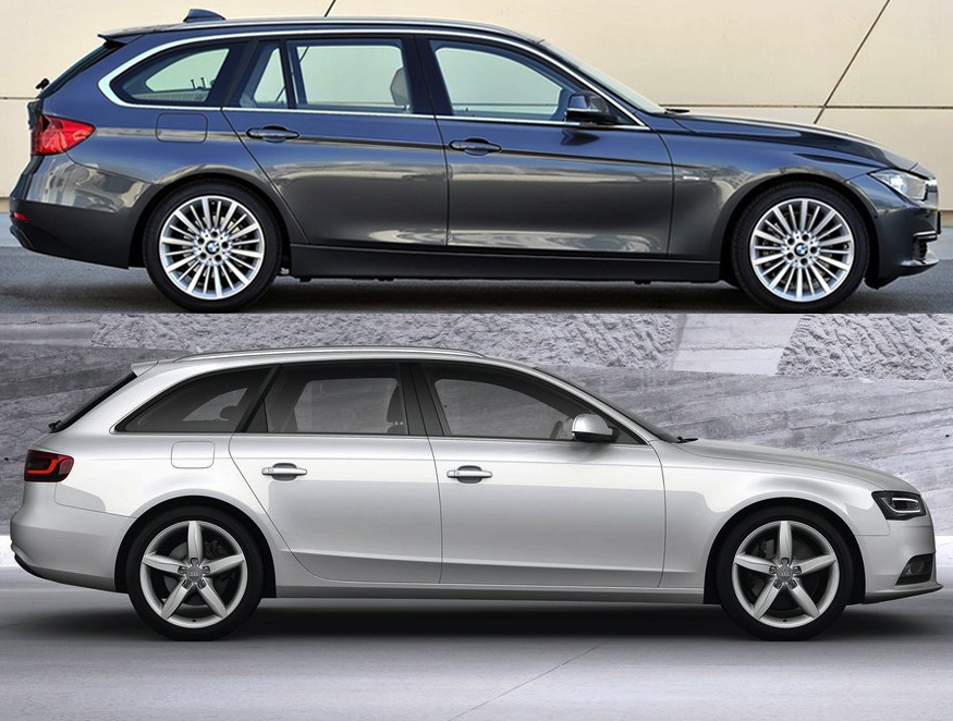2013 bmw f31 touring vs audi a4 avant photo comparo. Black Bedroom Furniture Sets. Home Design Ideas