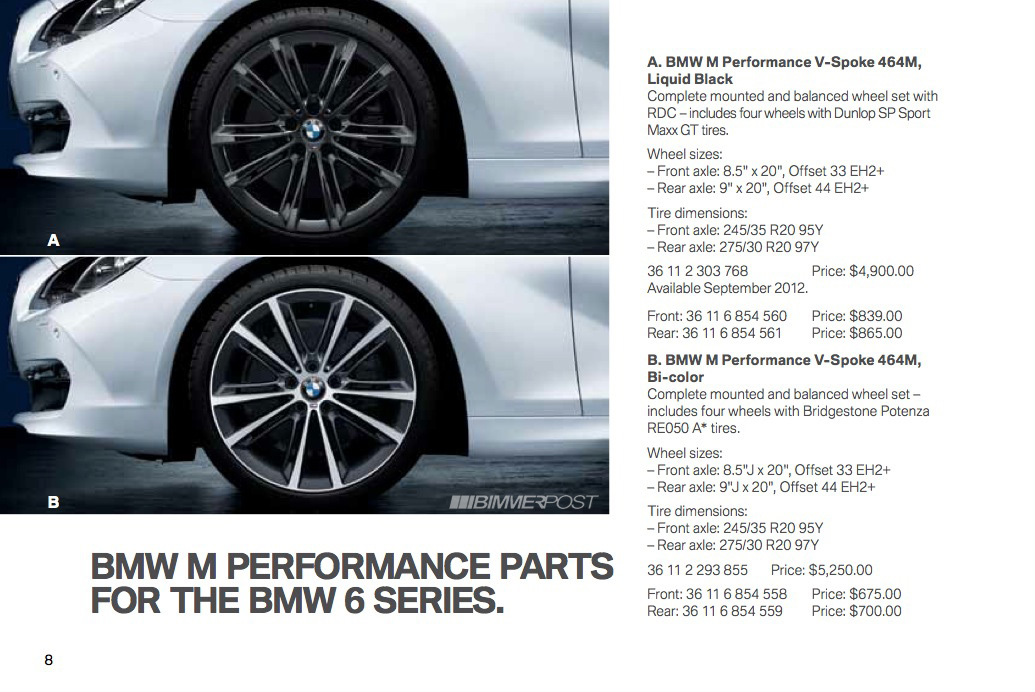 Bmw 6 Series M Performance Parts And Accessories Catalog
