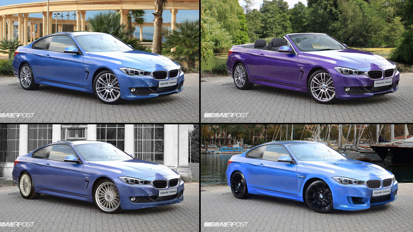 Renders Bmw 4 Series Coupe Convertible Alpina B4 M4