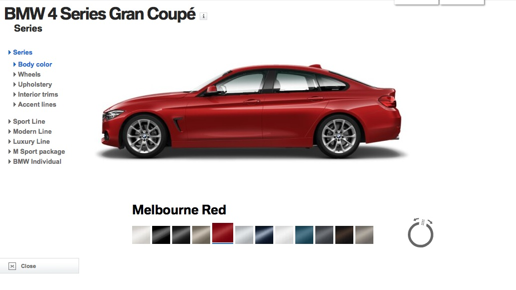 4 Series Gran Coupe Visualizer Shows Colors And Individual