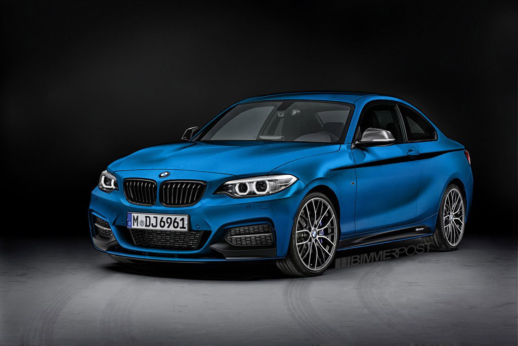 Rendered: BMW 2 Series M Performance Parts in different colors as ...