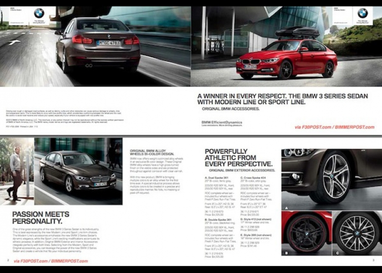 Bmw F30 3 Series Accessories Brochure Is In