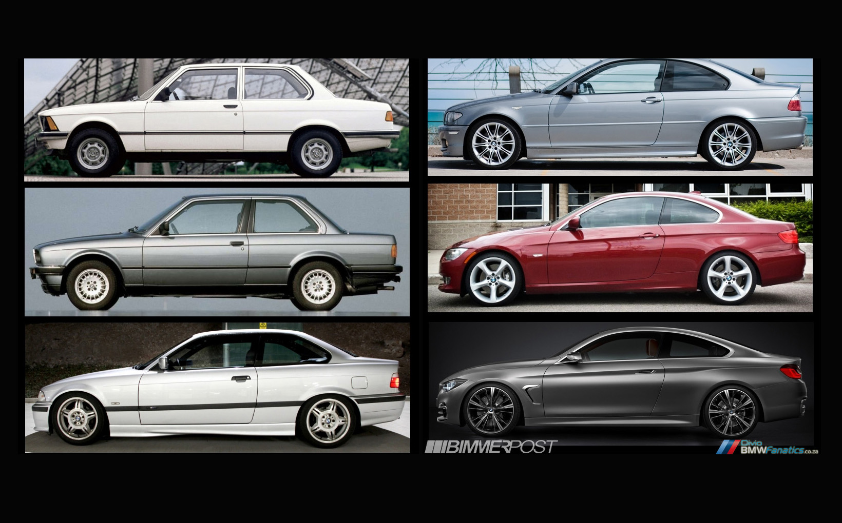 Evolution Of The Bmw 3 Series Coupe To 4 Series Coupe E21 To F32