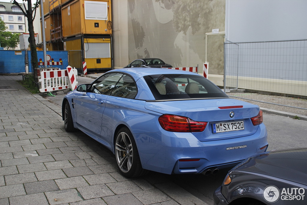 First Yas Marina Blue M4 Convertible