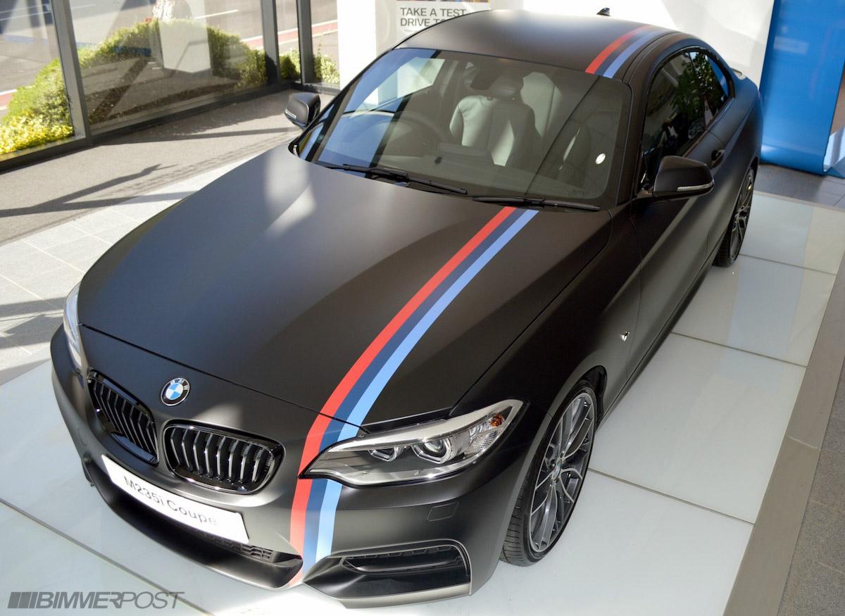 One Of A Kind M235i Matte Black W M Stripes