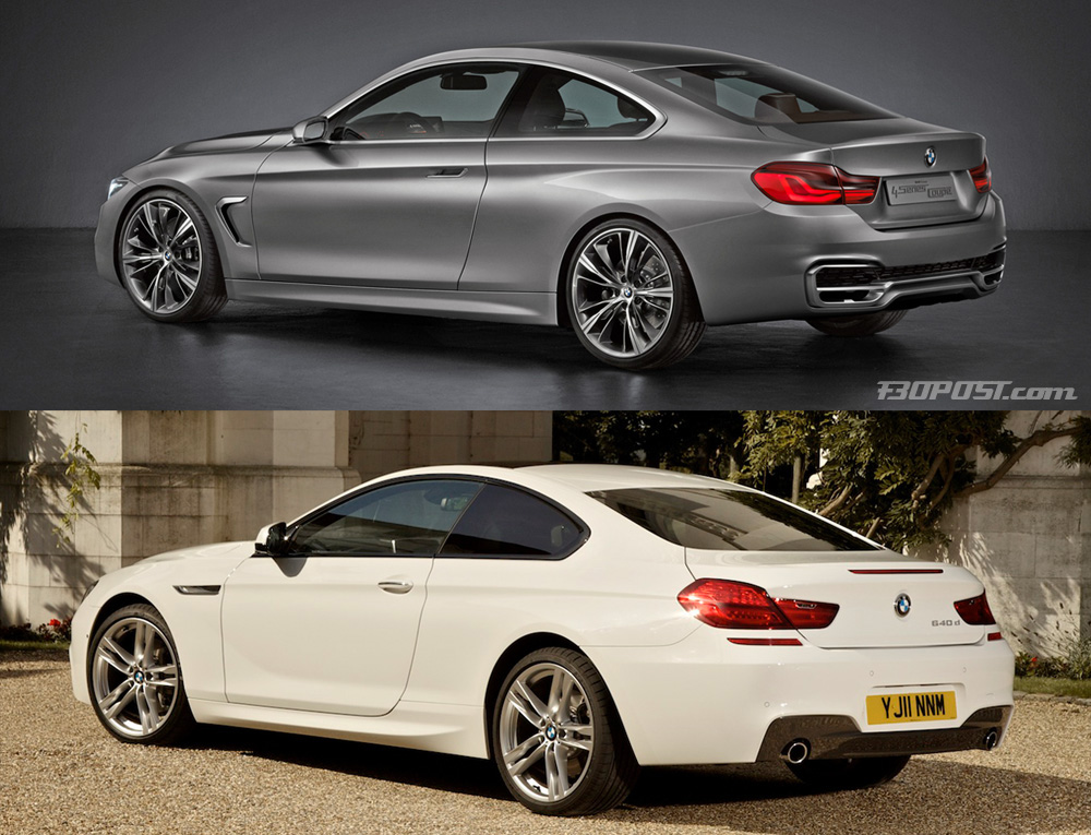 sibling bmw coupes compared f32 4 series concept vs f13 6 series. Black Bedroom Furniture Sets. Home Design Ideas