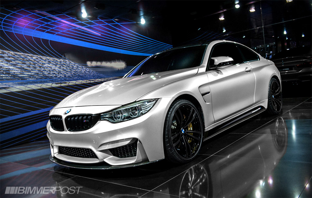 Rendered Mineral White M4 W M Performance Front Lip Spoiler And Sideskirts