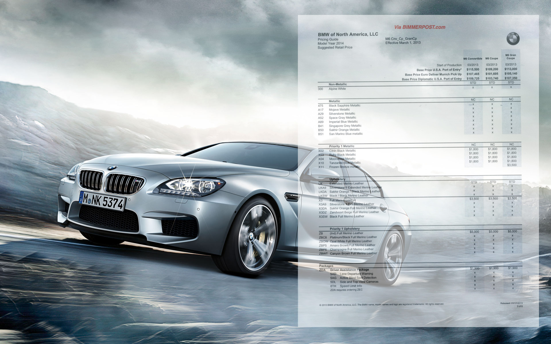 2014 BMW M6 Gran Coupe Price Announced at $113,000 and with Manual Transmission Option
