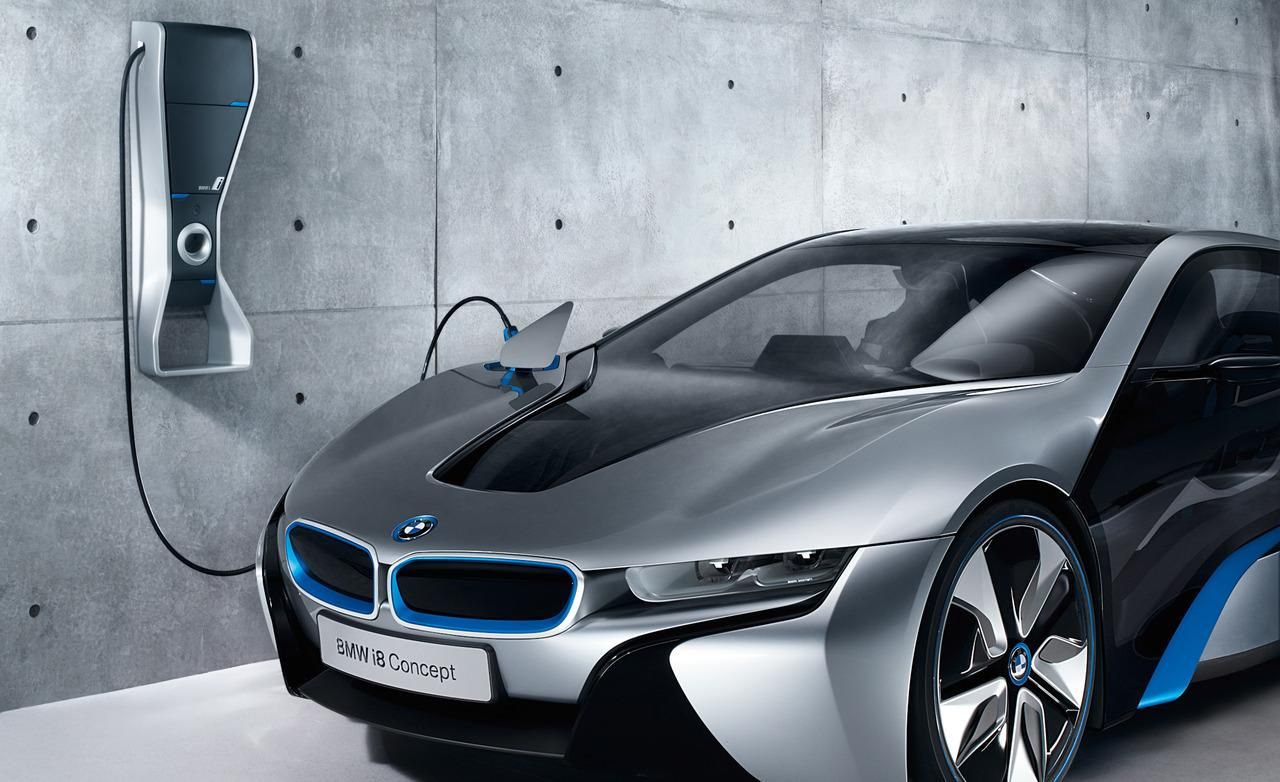 Name Bmw Iwallbox Charging Station And I8 Concept