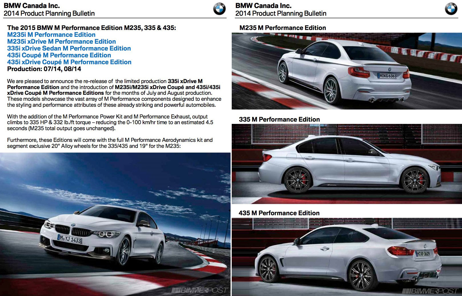 Bmw Canada New Limited 335i 435i And M235i M