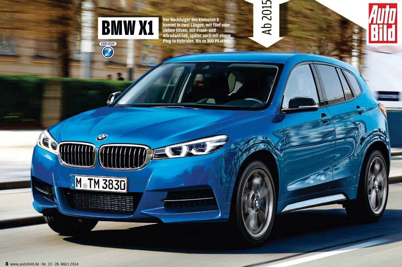 2016 bmw x1 f48 rendering and early info. Black Bedroom Furniture Sets. Home Design Ideas