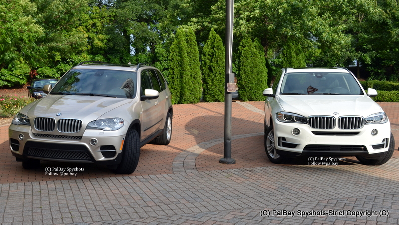 real life side by side comparo e70 x5 vs f15 x5