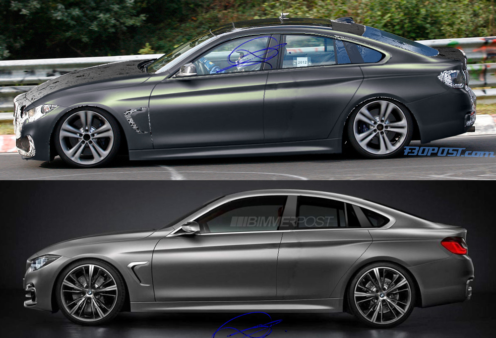 new bmw 4 series gran coupe renders. Black Bedroom Furniture Sets. Home Design Ideas