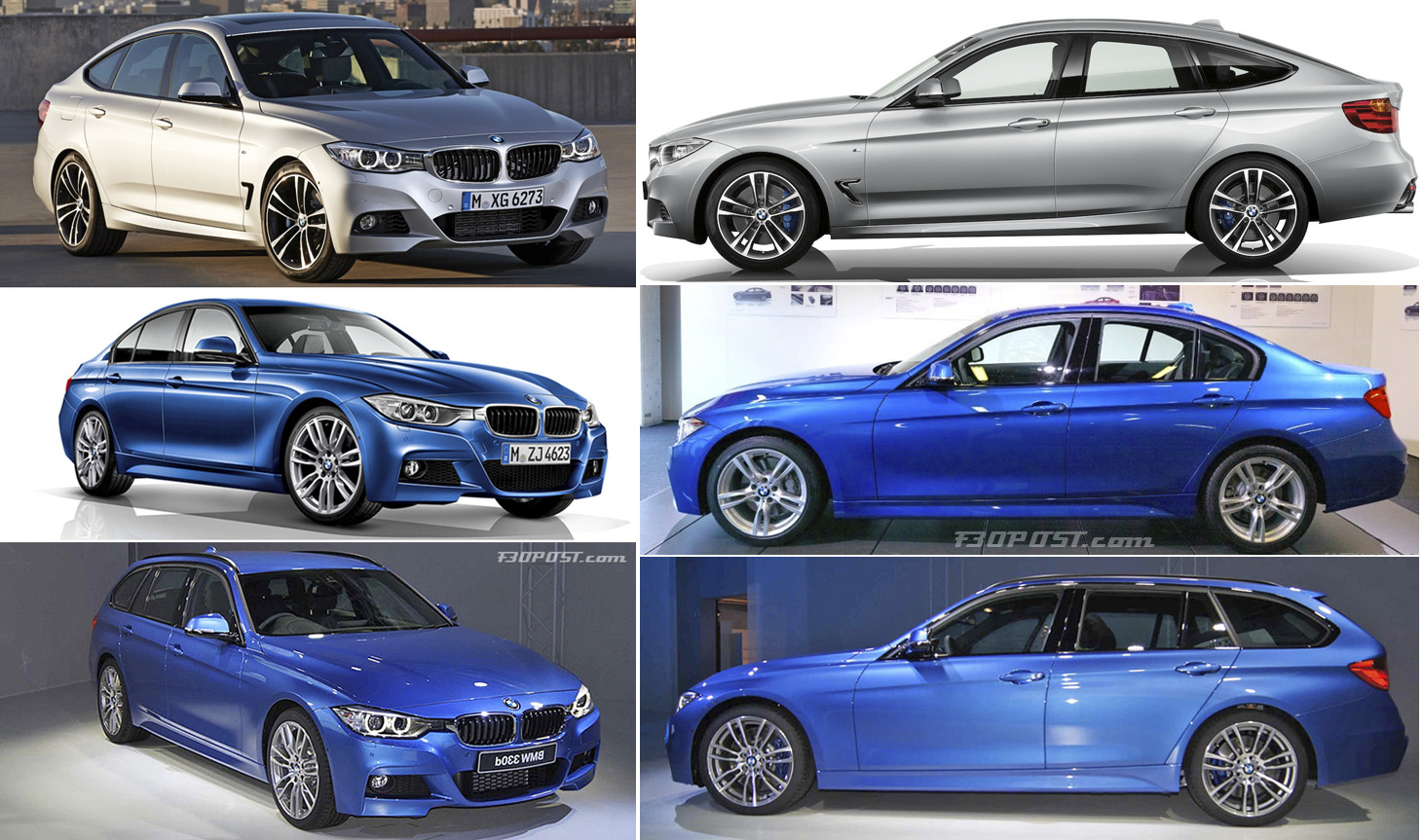 Bmw 3 Series Gt Vs Sedan Vs Touring Visual Comparison