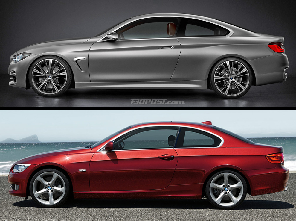 Bmw 4 Series Coupe Concept F32 Vs 3 Series Coupe E92
