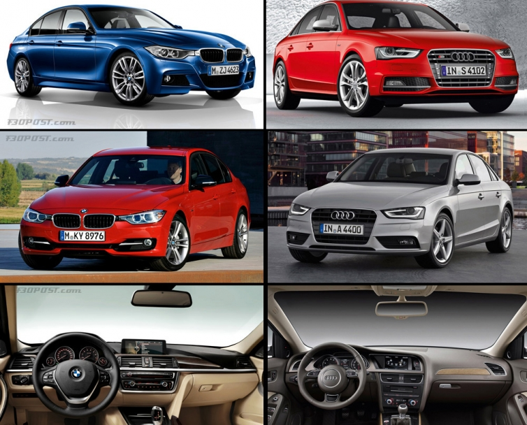 visual comparison bmw f30 3 series and m sport vs audi. Black Bedroom Furniture Sets. Home Design Ideas