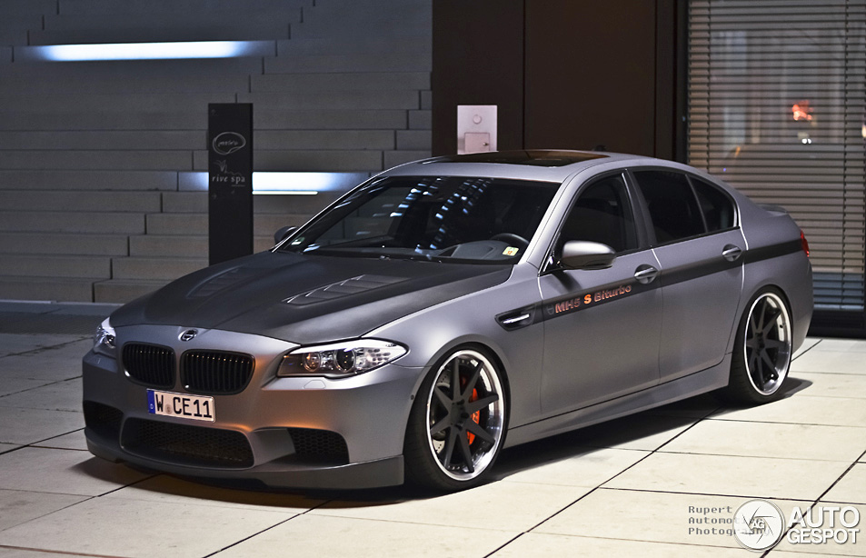 Manhart racing mh5 s biturbo f10 m5 pumped up to 646 hp