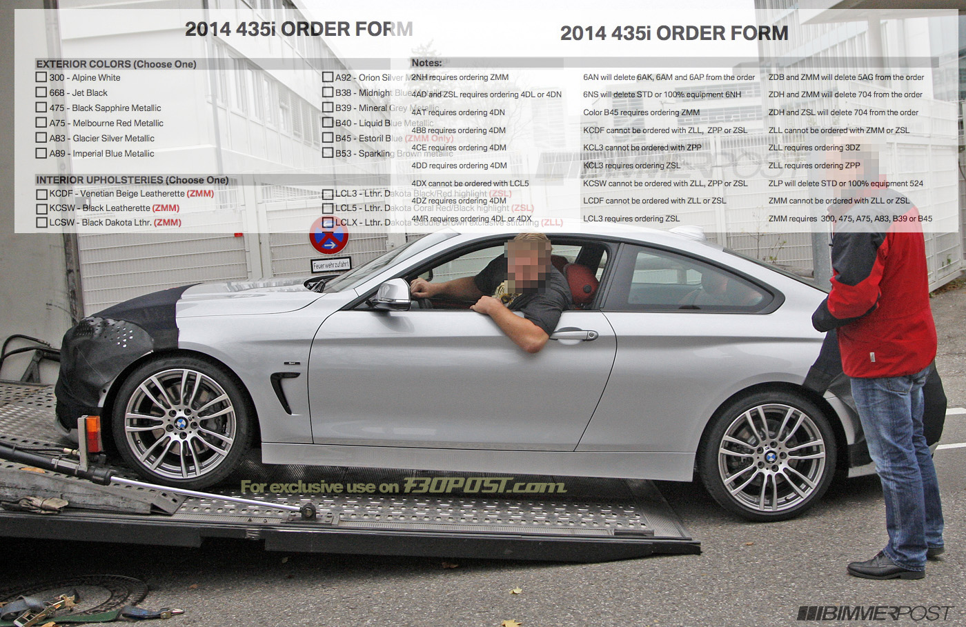 2014 BMW 435i and 428i Order Guides Reveal Lines, Options and Packages