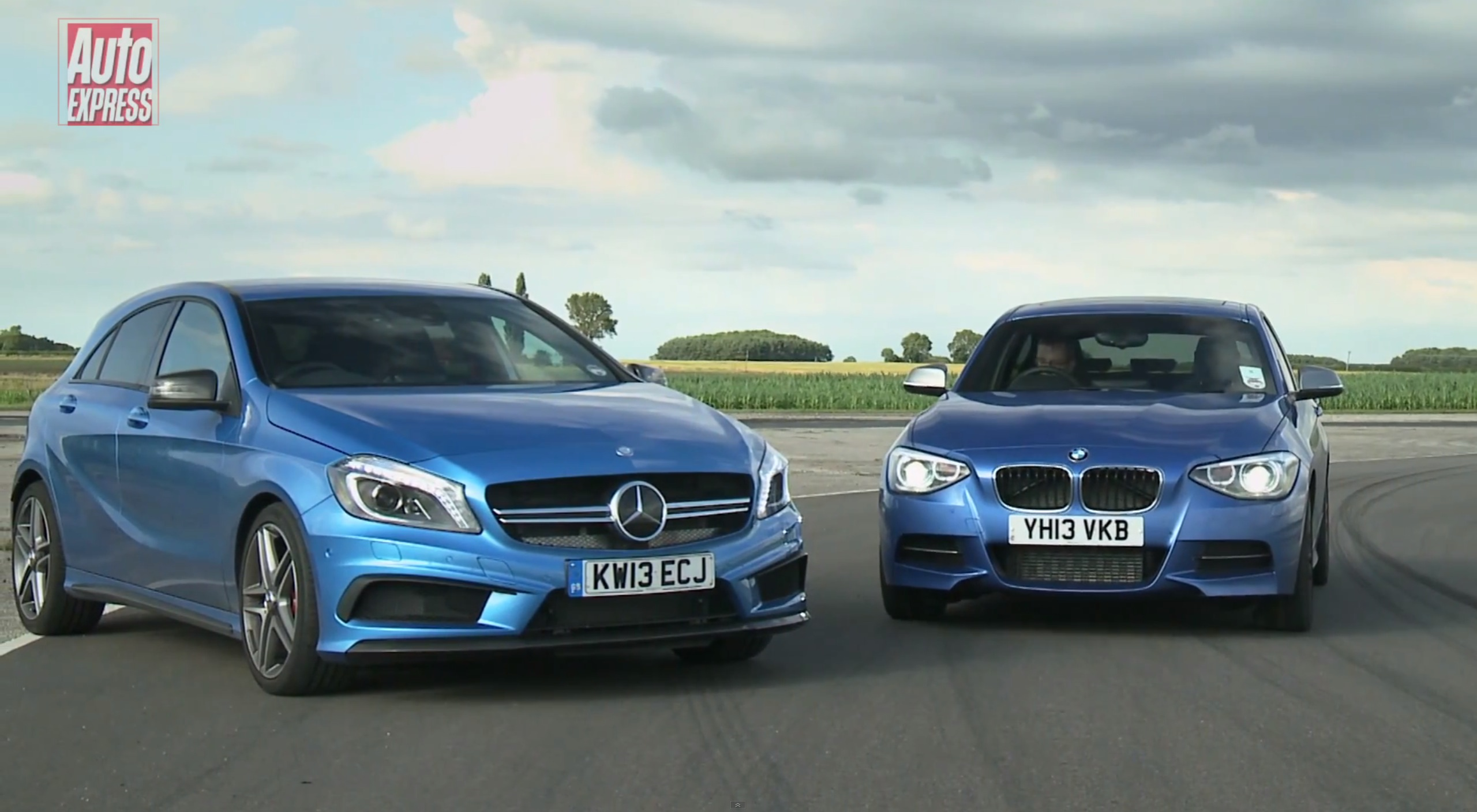 Blue A45 Amg M135 vs A45 Amg Auto Express