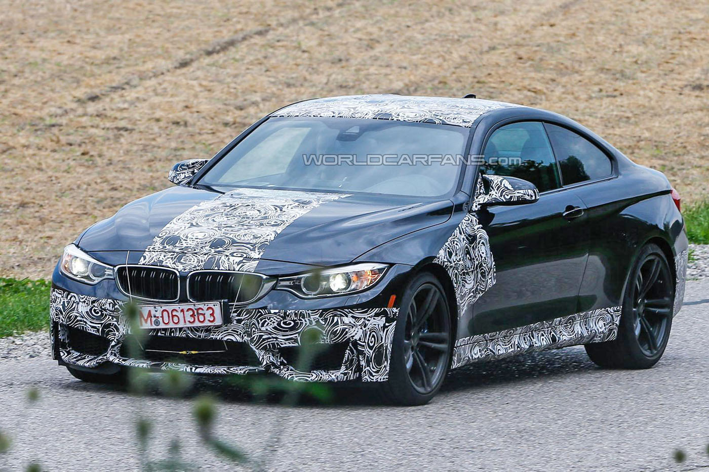 Latest BMW M4 Spy Pics Reveal More of Bumper and Mirrors