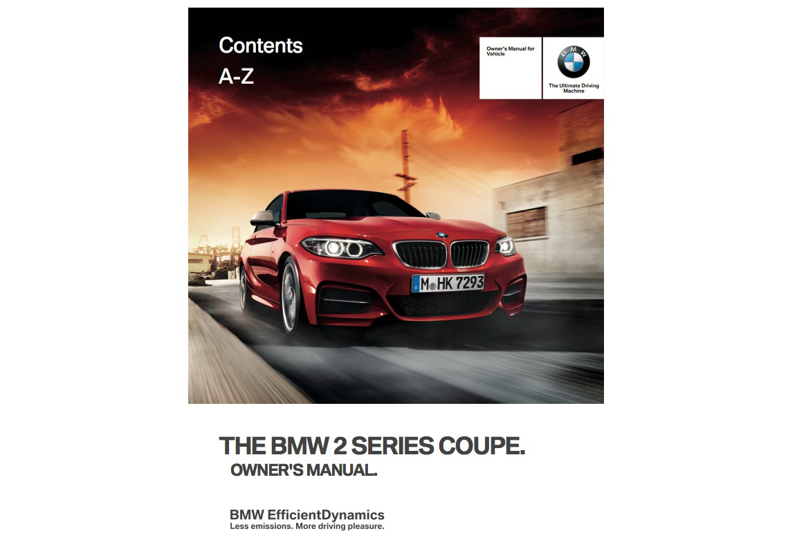 bmw 228i owners manual 2016