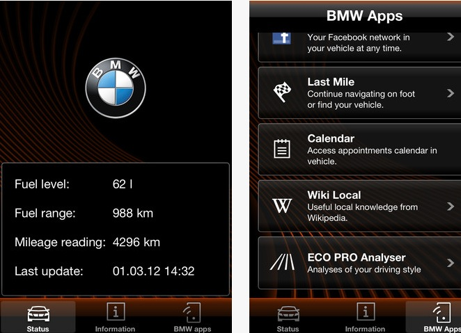 bmw apps bmw connected version 1 8 released today. Black Bedroom Furniture Sets. Home Design Ideas