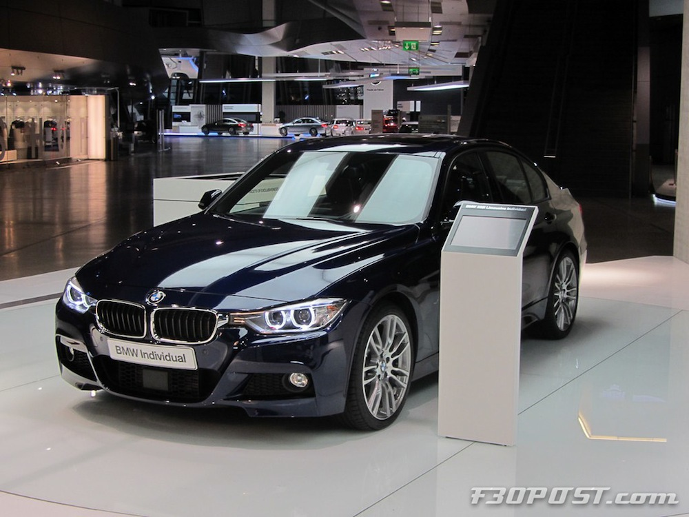 Beautiful Bmw Individual Tanzanite Blue F30 335i M Sport