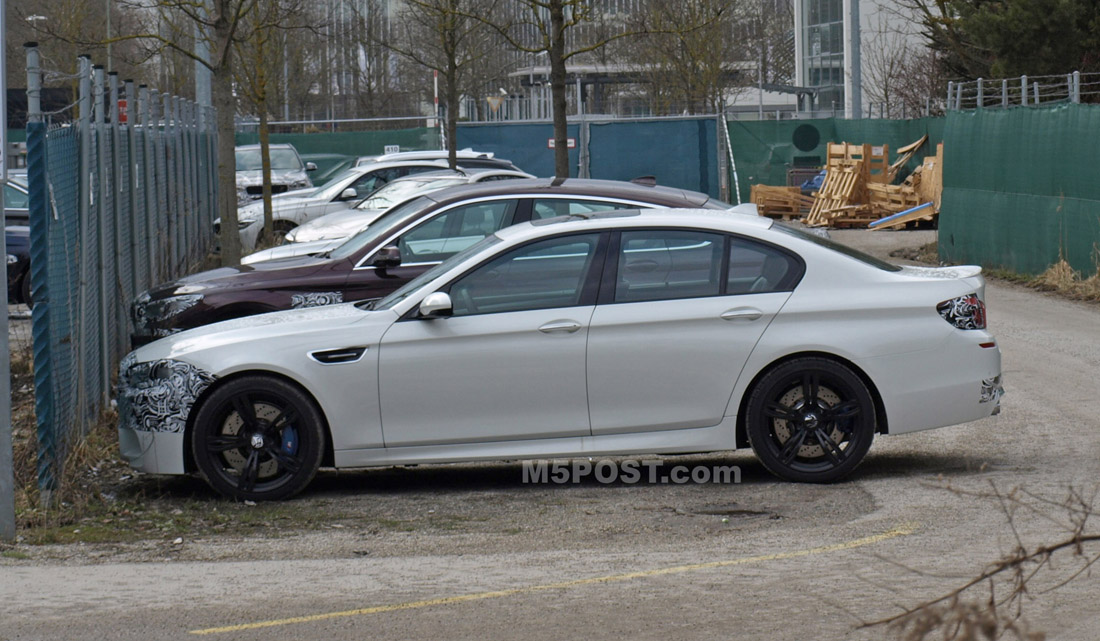 2014 M5 Lci Facelift Prototype Shows Only Minor Design