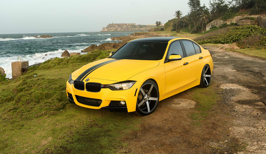 Vossen World Tour Bumble Bee Bmw F30 335i On Vossen Cv3s