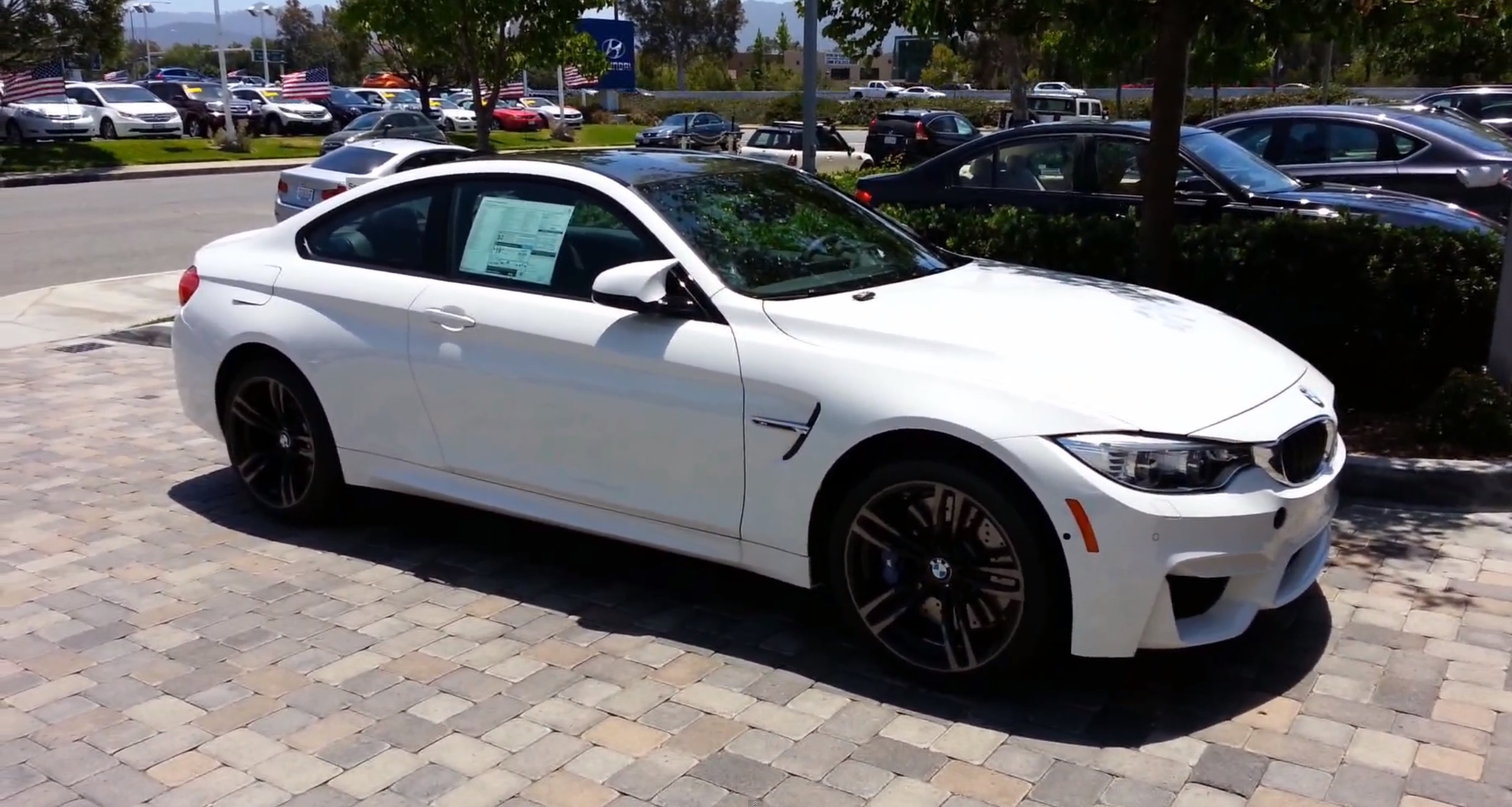 Bmw M4 Alpine White Arrives At Us Dealership Video