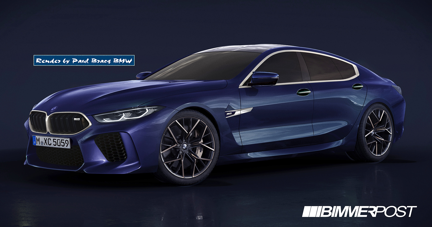 Production M8 Gran Coupe Renders
