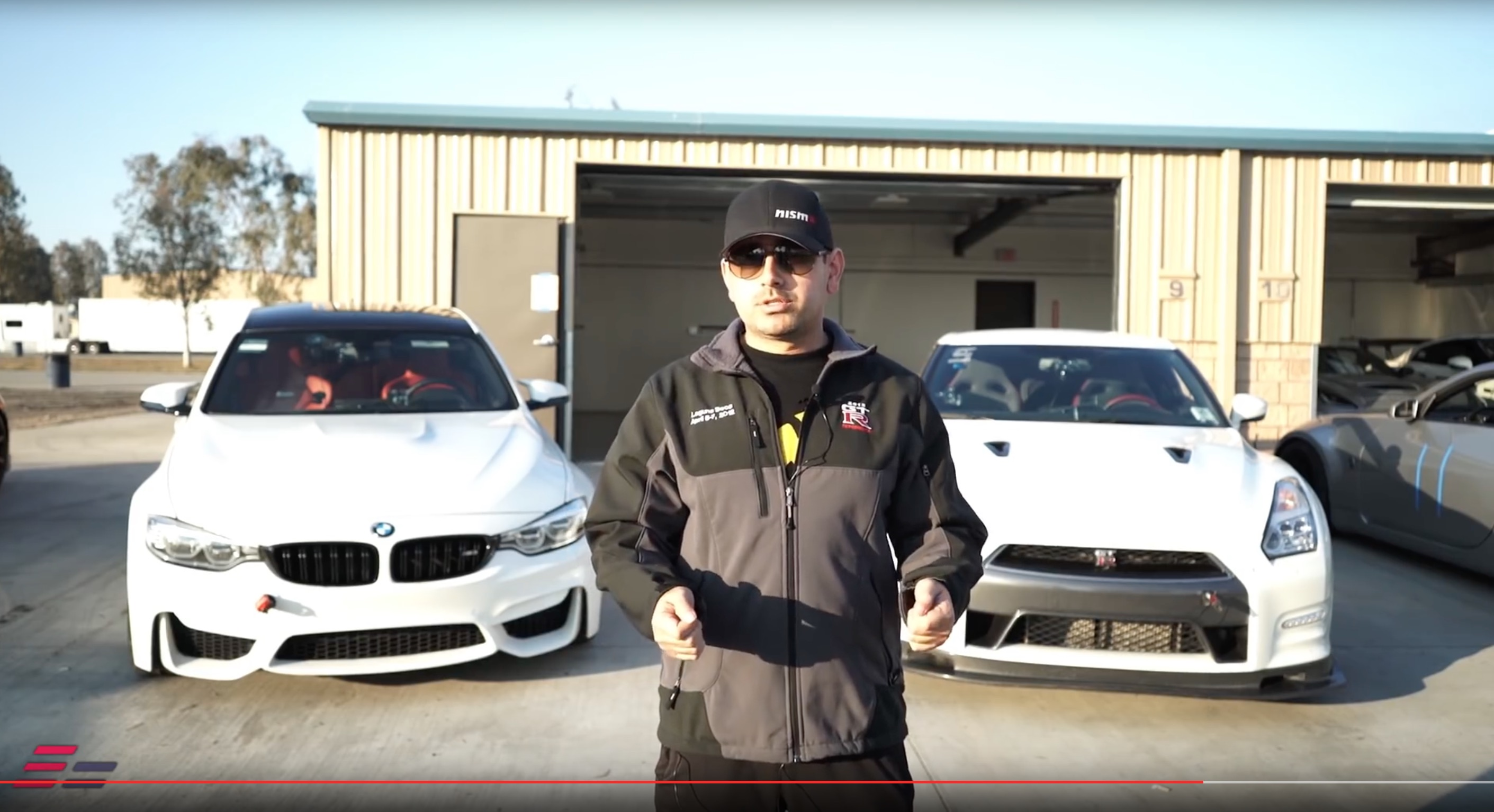 F80 M3 VS Nissan GTR Track parison Video at Buttonwillow